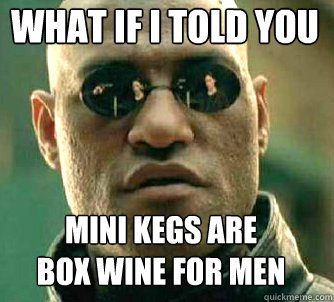 what if i told you mini kegs are  box wine for men - what if i told you mini kegs are  box wine for men  Matrix Morpheus