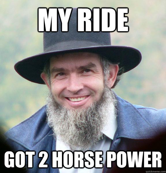 My Ride Got 2 Horse Power