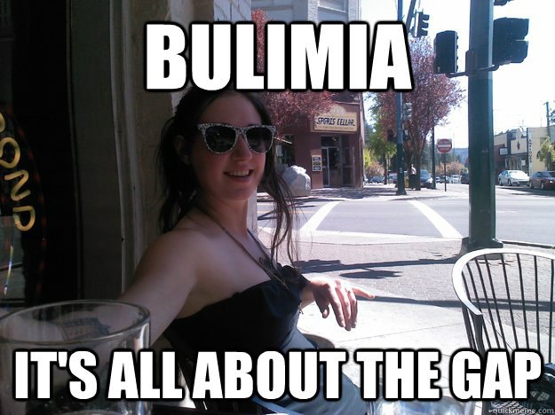 bulimia It's all about the gap