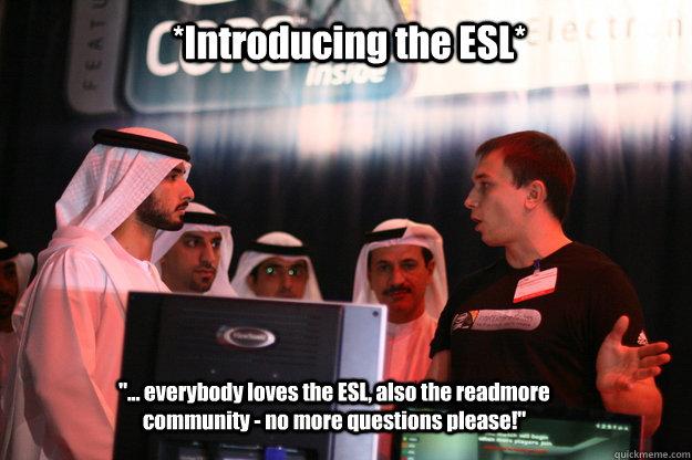68f3c67610c733bcc0ae48e94810eb1825ed35b088197f185cb4a4ff3e2fb21e introducing the esl memes quickmeme,Esl Meme