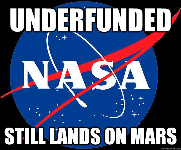 underfunded still lands on mars