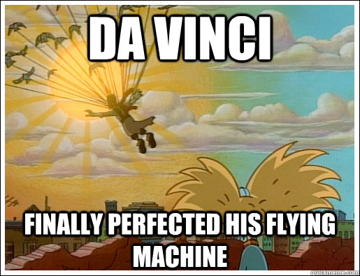 da vinci finally perfected his flying machine