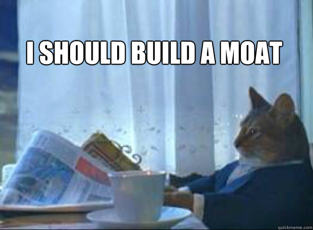 I should build a moat  - I should build a moat   I should buy a boat cat