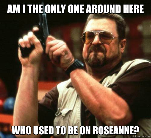 Am I the only one around here who used to be on roseanne?