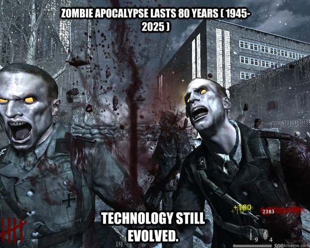 Funny Cod Zombie Memes : Wave 1= weakling wave 99= immortal just cod zombies. quickmeme