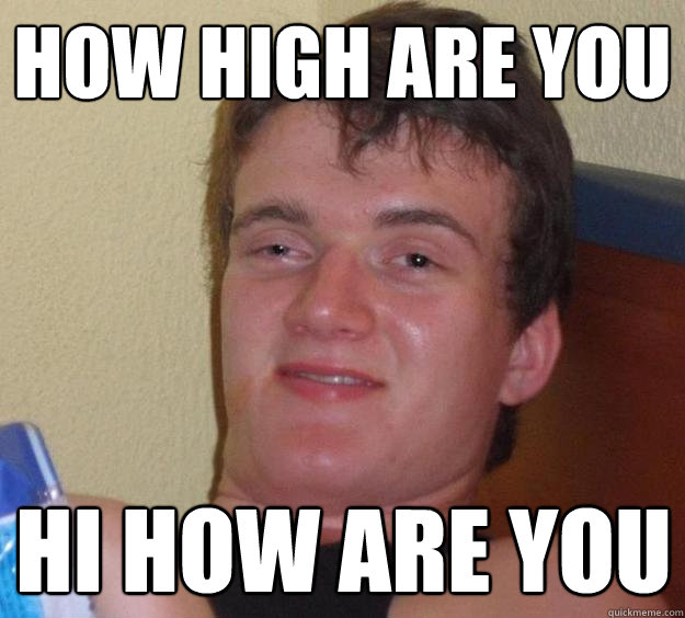 how high are you hi how are you - how high are you hi how are you  10 Guy