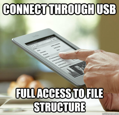 connect through usb full access to file structure