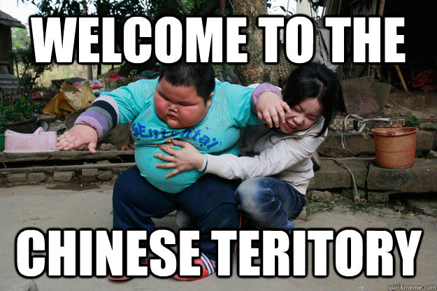 welcome to the chinese teritory