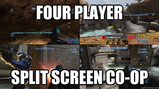 Four player  Split screen Co-op - Four player  Split screen Co-op  Misc
