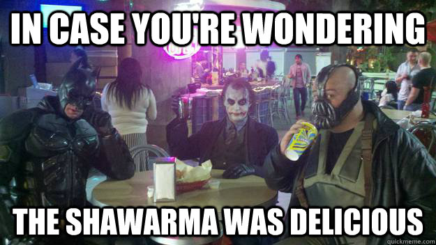 in case you're wondering the shawarma was delicious - in case you're wondering the shawarma was delicious  Gotham Dining