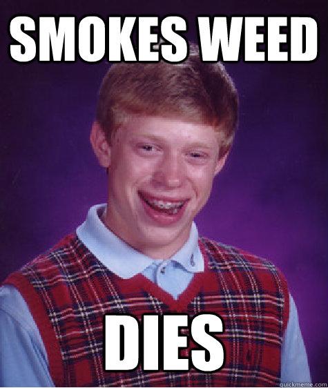 smokes weed dies - smokes weed dies  Badluckbrian