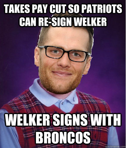 Takes pay cut so Patriots can re-sign welker welker signs with broncos - Takes pay cut so Patriots can re-sign welker welker signs with broncos  Misc