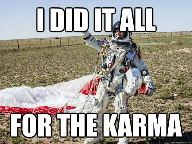 i did it all for the karma - i did it all for the karma  Misc