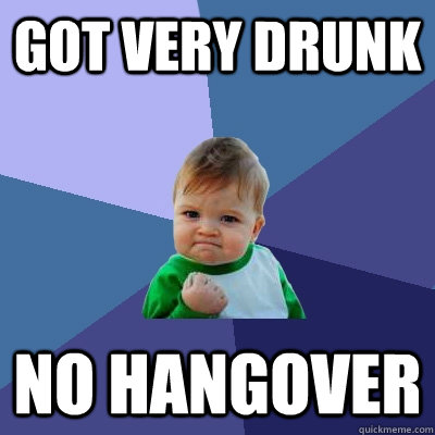 Got very drunk No Hangover - Got very drunk No Hangover  Success Kid