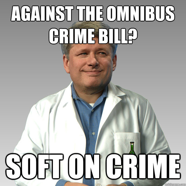 Against the Omnibus Crime Bill? soft on crime
