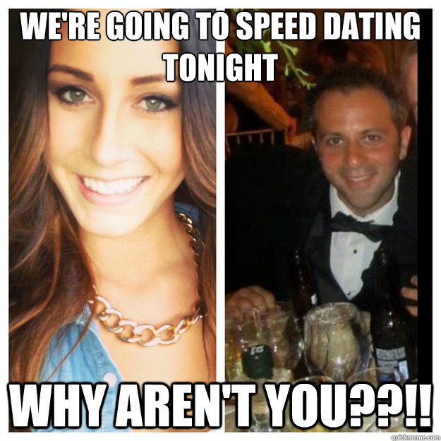 Going speed dating alone