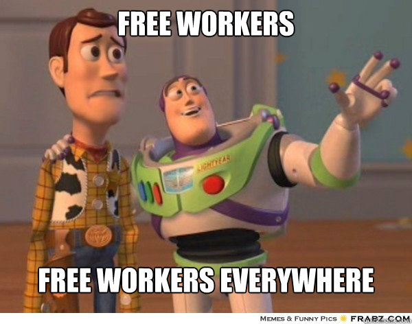 Free workers Free workers everywhere