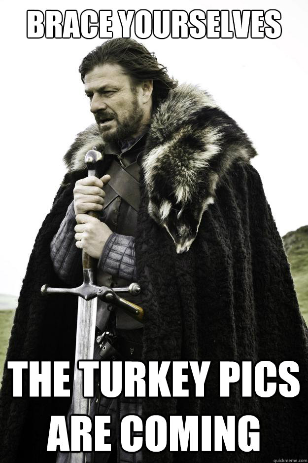 Brace yourselves THE Turkey pics ARE COMING