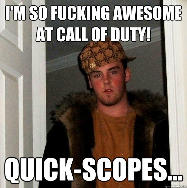 Blonde girl freaks when watching COD Call of Duty