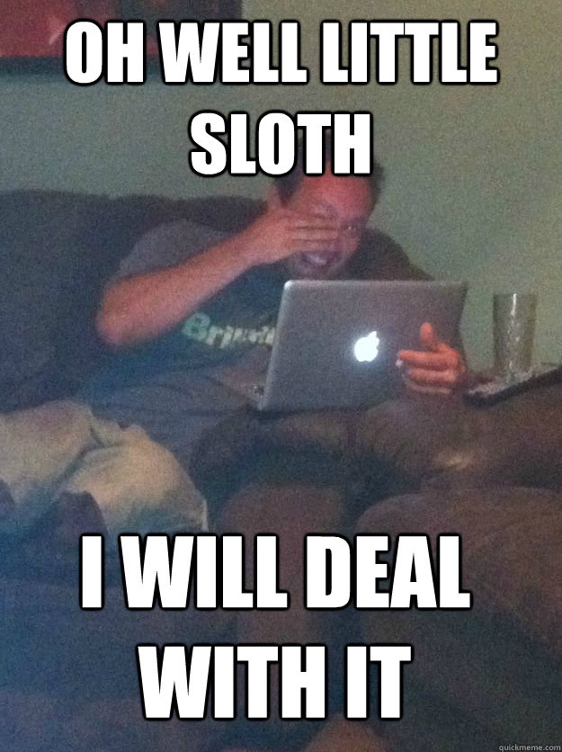 OH WELL LITTLE SLOTH I WILL DEAL WITH IT - OH WELL LITTLE SLOTH I WILL DEAL WITH IT  MEME DAD
