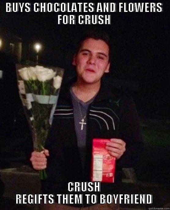 BUYS CHOCOLATES AND FLOWERS FOR CRUSH CRUSH REGIFTS THEM TO BOYFRIEND Friendzone Johnny