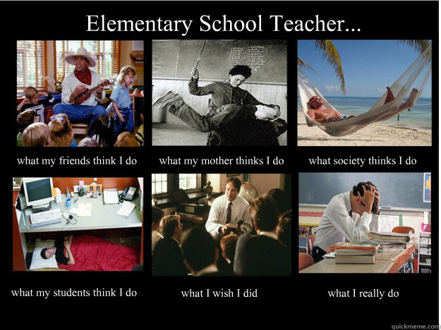 Elementary School Teacher... what my friends think I do what my mother thinks I do what society thinks I do what my students think I do what I wish I did what I really do - Elementary School Teacher... what my friends think I do what my mother thinks I do what society thinks I do what my students think I do what I wish I did what I really do  What People Think I Do