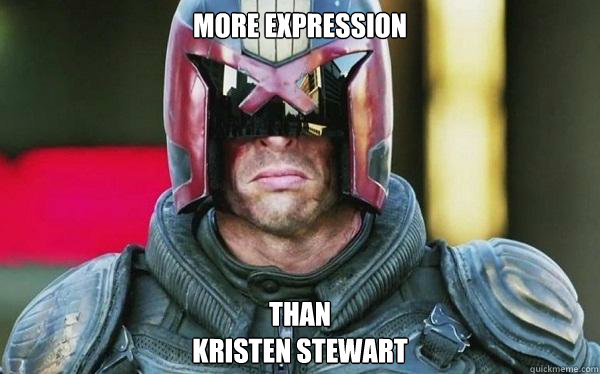 More expression Than Kristen Stewart
