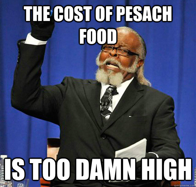 The cost of Pesach food Is too damn high - The cost of Pesach food Is too damn high  Jimmy McMillan