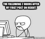 The following 2 hours after my first post on Reddit.