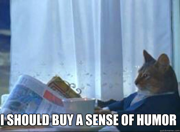 i should buy a sense of humor - i should buy a sense of humor  boat cat
