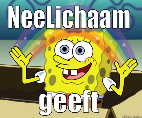 NL Biatch - NEELICHAAM GEEFT Spongebob rainbow