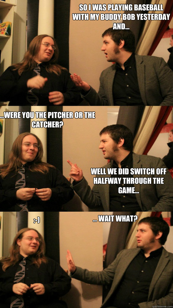 Baseball sexual innuendos