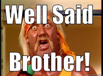 Enthusiastic Hulk Hogan - WELL SAID BROTHER! Misc