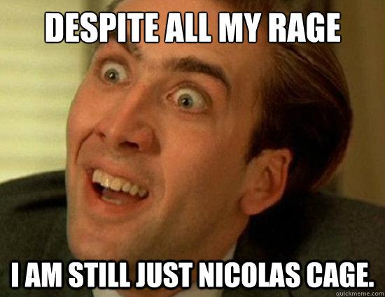6b3c42016ca764776cf1d2be419c20d3299ca309f16ffe8fd26877aacea17924 despite all my rage i am still just nicolas cage cage rage