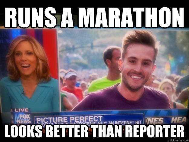Runs a marathon looks better than reporter - Runs a marathon looks better than reporter  RPG News