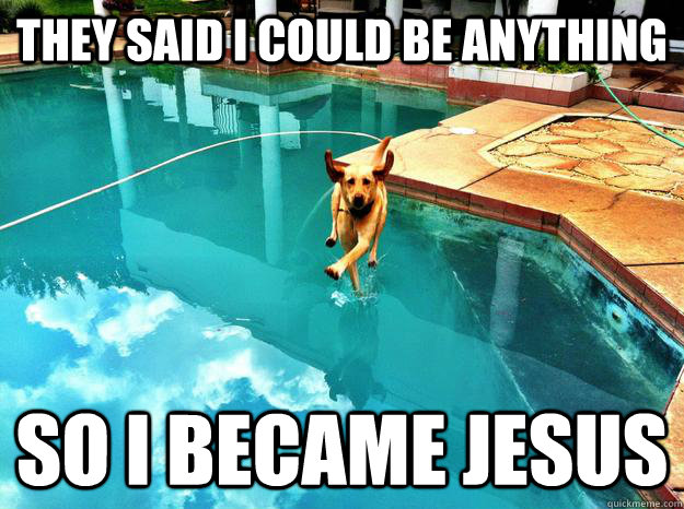 They said i could be anything so i became jesus - They said i could be anything so i became jesus  Jesus Dog
