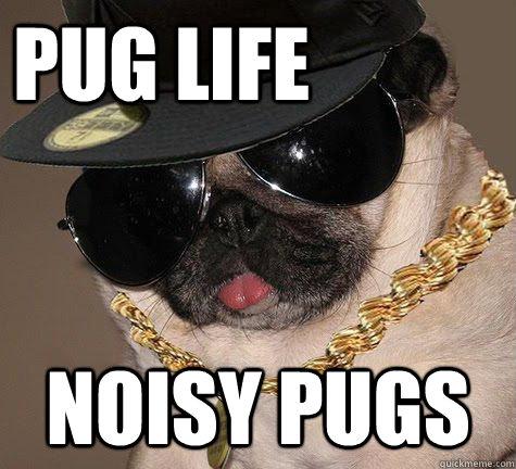 Pug Life Noisy Pugs