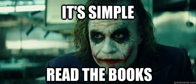 It's Simple read the books