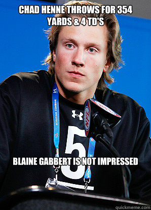 Chad henne throws for 354 Yards & 4 td's blaine Gabbert is not impressed - Chad henne throws for 354 Yards & 4 td's blaine Gabbert is not impressed  blaine gabbert woah there mother fucker