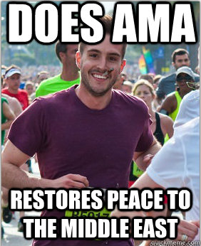 does ama restores peace to the middle east