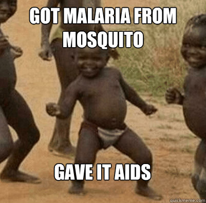 got malaria from  mosquito gave it AIDS - got malaria from  mosquito gave it AIDS  Third World Success Kid