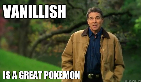 Vanillish Is a great pokemon - Vanillish Is a great pokemon  Rick perry