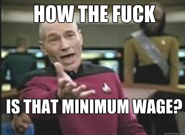 HOW THE FUCK IS THAT MINIMUM WAGE?