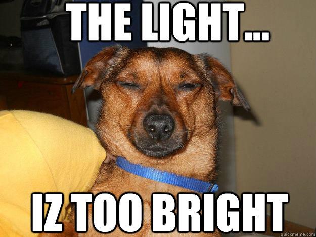THE LIGHT... IZ TOO BRIGHT - THE LIGHT... IZ TOO BRIGHT  Britelite