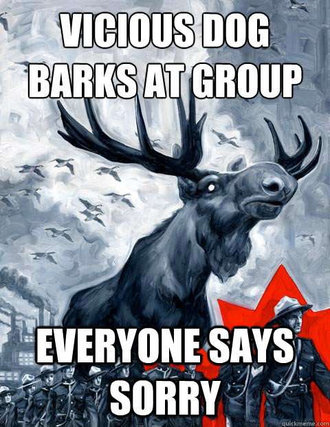 Vicious dog barks at group Everyone says sorry - Vicious dog barks at group Everyone says sorry  Canada Day