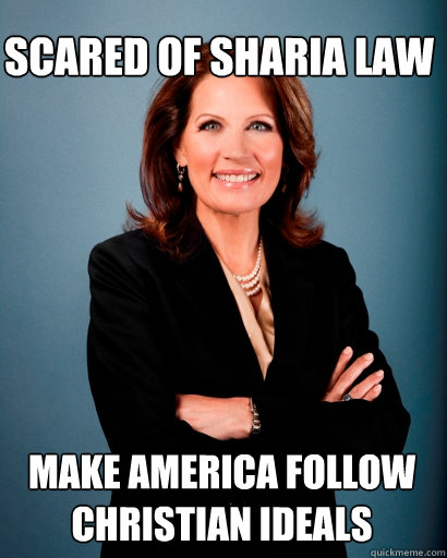 Scared of Sharia law Make America follow Christian ideals