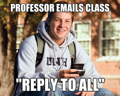 Professor emails class