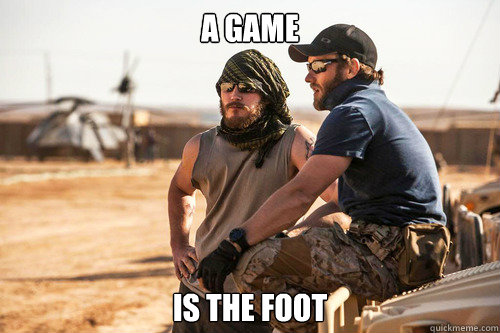 A game is the foot - A game is the foot  Misc