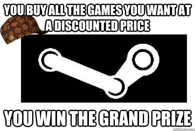you buy all the games you want at a discounted price you win the grand prize