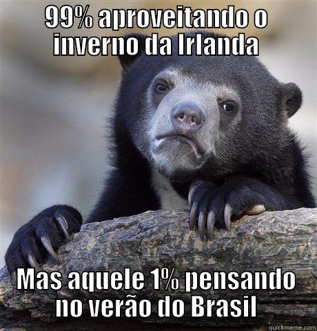 99% APROVEITANDO O INVERNO DA IRLANDA MAS AQUELE 1% PENSANDO NO VERÃO DO BRASIL Confession Bear